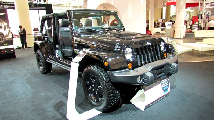2012 Jeep Wrangler Unlimited Mw3 Call Of Duty At 2012 Toronto Auto Show