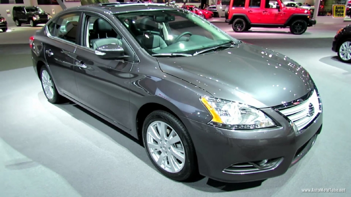 2013 nissan sentra sl at 2012 los angeles auto show. Black Bedroom Furniture Sets. Home Design Ideas