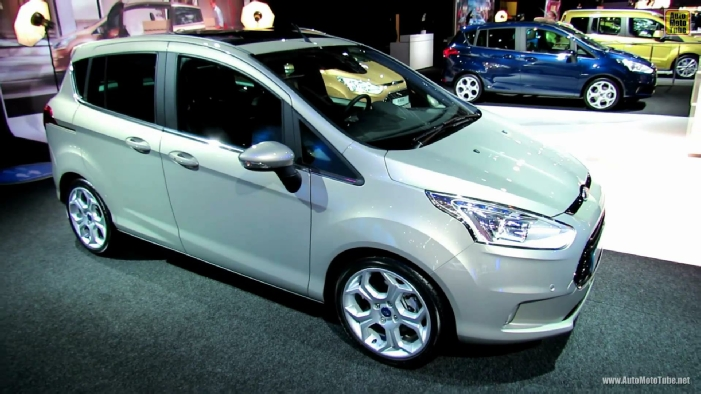 2013 ford b max titanium at 2012 paris auto show. Black Bedroom Furniture Sets. Home Design Ideas
