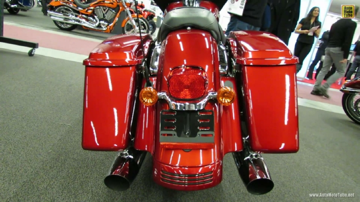 Harley Davidson Touring Street Glide Rear View on Victory Motorcycles