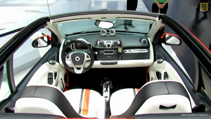 2013 smart fortwo cabrio brabus electric drive tailer made at 2012 paris auto show. Black Bedroom Furniture Sets. Home Design Ideas