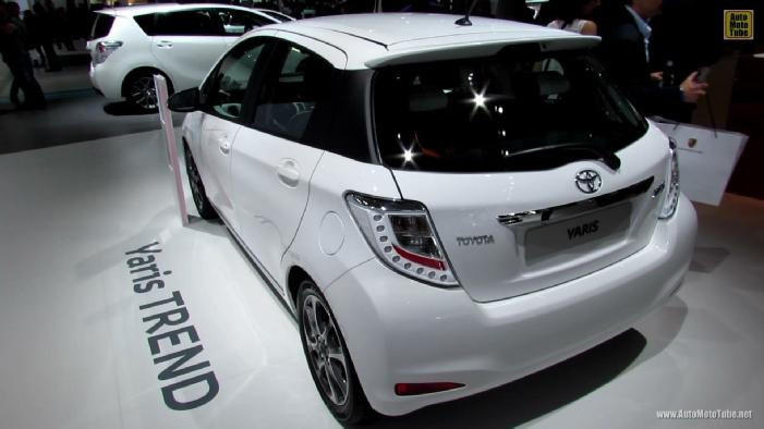 2013 Toyota Yaris Trend at 2012 Paris Auto Show