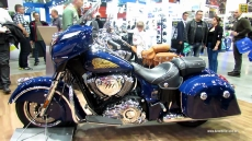 2014 Indian Chieftain (Blue Colour) at 2013 EICMA Milan Motorcycle Exhibition