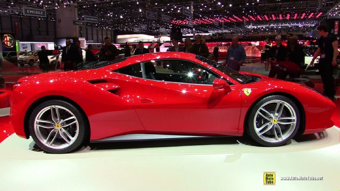 2015 ferrari 488 gtb at 2015 geneva motor show. Black Bedroom Furniture Sets. Home Design Ideas