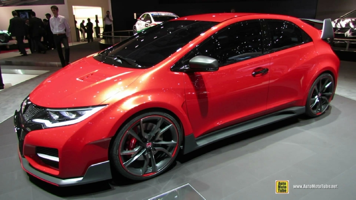 2015 honda civic type r concept at 2014 geneva motor show. Black Bedroom Furniture Sets. Home Design Ideas