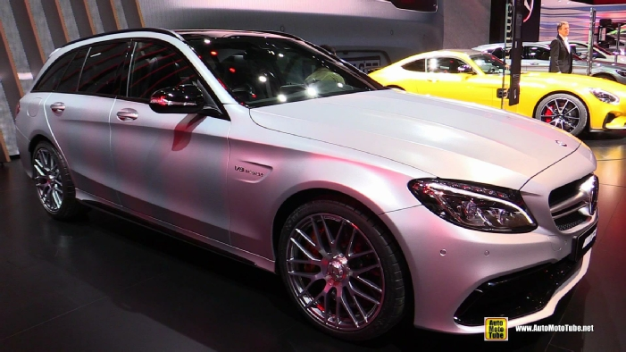 2015 mercedes benz c63 amg c break wagon at 2014 paris for Mercedes benz c63 amg wagon