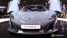2016 McLaren 675LT Grey at 2015 Geneva Motor Show