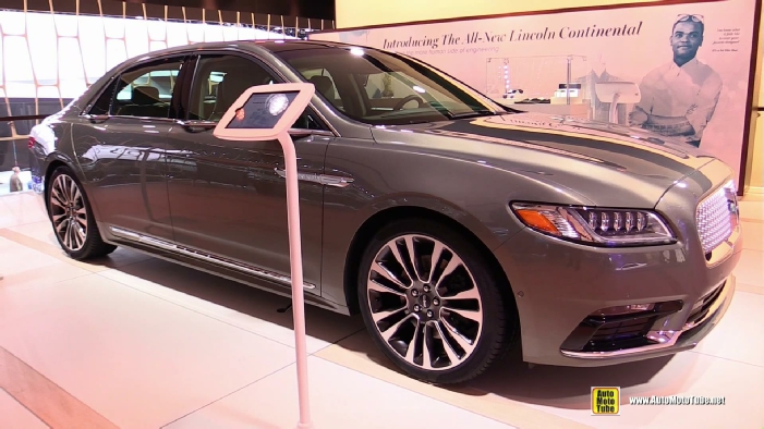 2017 lincoln continental at 2016 detroit auto show. Black Bedroom Furniture Sets. Home Design Ideas