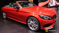2017 Mercedes AMG C43 4matic Convertible at 2016 Geneva Motor Show