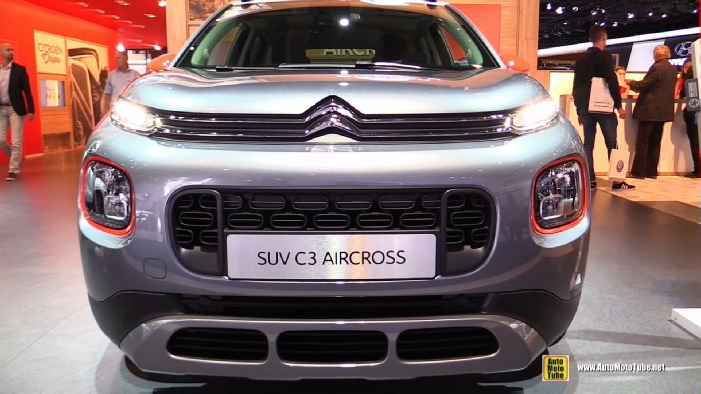 2018 citroen suv c3 aircross at 2017 frankfurt motor show. Black Bedroom Furniture Sets. Home Design Ideas