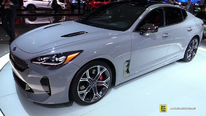 2018 Kia Stinger Gt At 2017 Detroit Auto Show