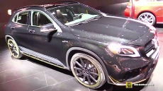 2018 Mercedes AMG GLA45 4Matic at 2017 Detroit Auto Show