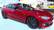 2015 Tesla Model S P85D at 2015 Detroit Auto Show